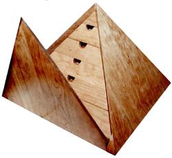 Ferland Woodworking Co., Inc - Pyramid Shaped Jewelry Box